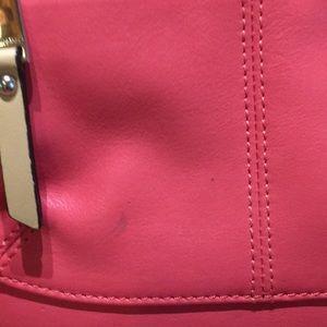 Tignanello Bags - Tignanello small cross body coral/tan leather 1x
